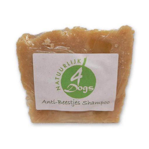 Natuurlijke anti vlooien shampoo in blokvorm